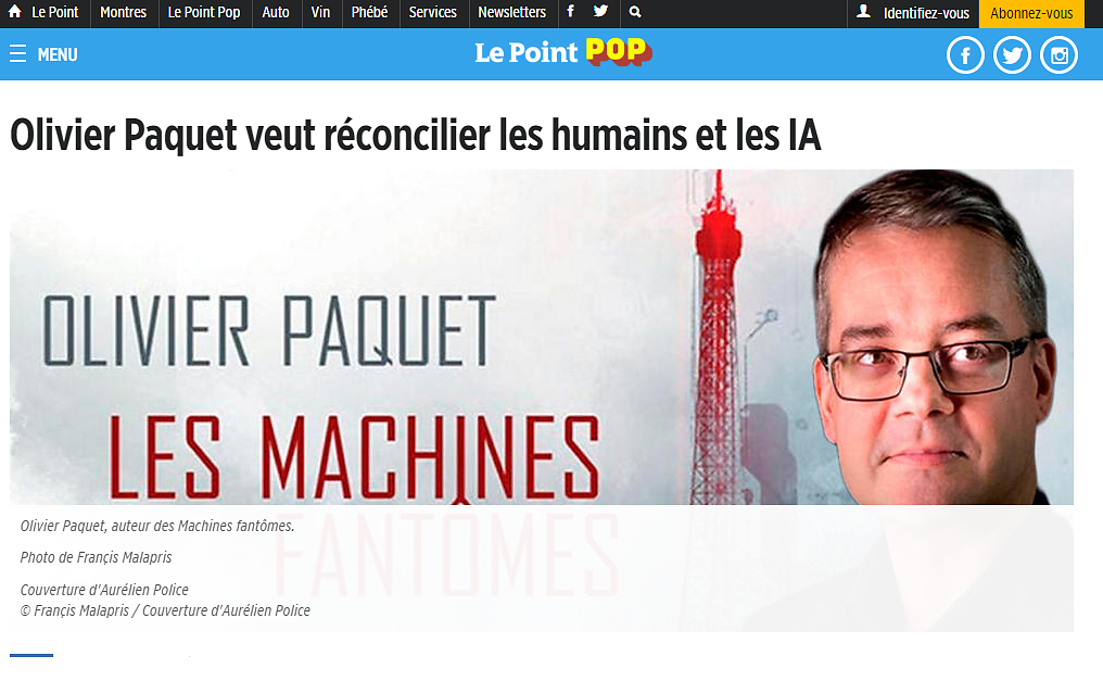 Portrait de Olivier Paquet dans LE POINT